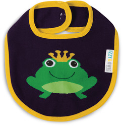 Green and Navy Froggy by Izzy & Owie - Baby Bib