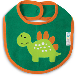 Aqua and Orange Dino by Izzy & Owie - Baby Bib