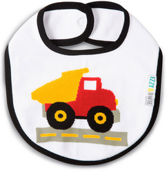 Red and Yellow Truck by Izzy & Owie - Baby Bib