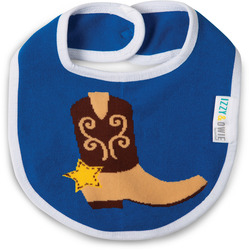 Blue and Brown Cowboy by Izzy & Owie - Baby Bib
