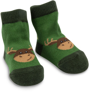 Forest Green Moose by Izzy & Owie - 0-12 Socks