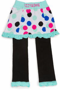 Mint and Black Polka Dot by Izzy & Owie - 6-12 Months Skirted-Leggings