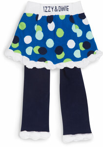 White and Navy Polka Dot by Izzy & Owie - 6-12 Months Skirted-Leggings