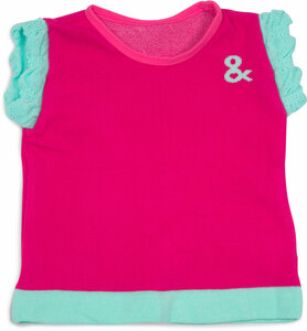 Magenta & Mint  by Izzy & Owie - 6-12 Months Ruffle T-Shirt