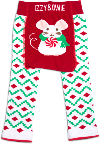 Christmas Mouse by Izzy & Owie - Christmas Mouse - 6-12 Months Baby Leggings
