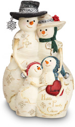 "Love Holds a Family Close by The Birchhearts - 5"" Snowman Family of 4"