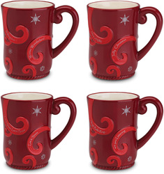 "Holiday Cheers by The Birchhearts - 4.5"" Set of 4 Mugs"