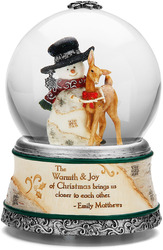 Warmth & Joy by The Birchhearts - 100mm Musical Water Globe