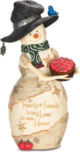 "Home by The Birchhearts - 7""Snowman w/Basket of Apples"