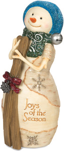 "Joys of the Season by The Birchhearts - 6"" Snowman with Skis"