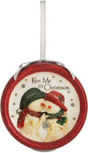Kiss Me by The Birchhearts - 100 MM Blinking Ornament