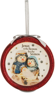 Jesus in the Reason by The Birchhearts - 100 MM Blinking Ornament