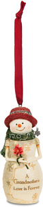 "Grandmother by The Birchhearts - 4"" Snowwoman Holding a Flower Ornament"