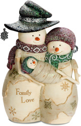 "Family Love by The Birchhearts - 6"" Snowcouple with Baby"
