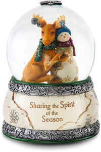 Sharing the Spirit of the Season by The Birchhearts - 100 MM Musical Water Globe