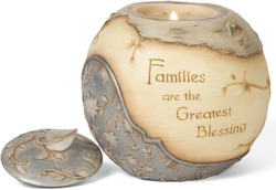 "Family by Elements - 4.5"" Round Tea Light Holder"