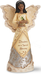"EBN Blessings for a Daughter by Elements - 9"" EBN Angel Holding Daisies"