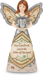 "Irish Blessing by Elements - 6"" Angel Holding Claddagh"