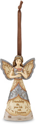 "Friendship by Elements - 4.75"" Angel & Butterfly Ornament"