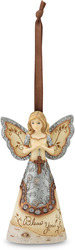 "Bless You by Elements - 4.5"" Angel w/Cross Ornament"