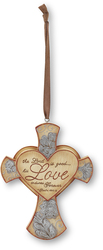 "Love by Elements - 4.25"" Cross Ornament"