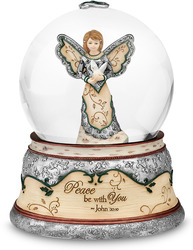 Peace be with You by Holiday Elements - 100mm Musical Water Globe