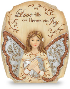 "Love by Elements - 4""x3.5"" Self Standing Plaque"