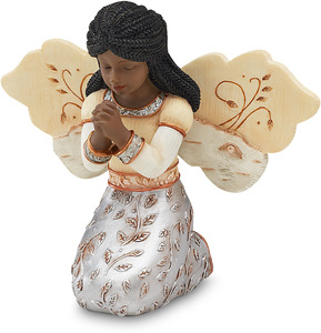 "EBN In Faith by Elements - 3.5"" EBN Kneeling Girl Angel"
