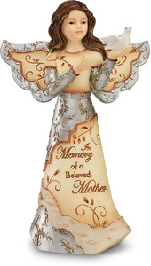 "Beloved Mother by Elements - 5"" Angel Holding Dove"