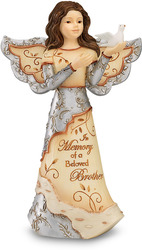 "Beloved Brother by Elements - 5"" Angel Holding Dove"