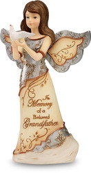 "Beloved Grandfather by Elements - 5"" Angel Holding Dove"