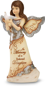 "Beloved Daughter by Elements - 5"" Angel Holding Dove"