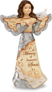 "In Memory of Someone Special by Elements - 5"" Angel Holding Dove"