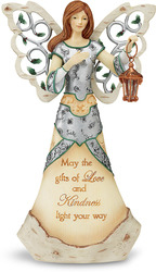 "Kindness by Holiday Elements - 9"" Musical Angel w/Lantern"