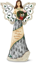 "Fill the air with Love by Holiday Elements - 12"" Angel w/Heart Wreath"