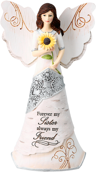 Sister by Elements - Intricacy, attention to detail, and remarkable variety sets their status as the premier elegantly embellished, spiritual figurine gift.  They are hand painted, with tiny unique fine points.  Your angel is packaged in a beautiful gift box.