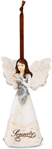 "Serenity by Elements - 4.5"" Angel w/ Butterfly Orn"