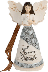 "Forever Friends by Elements - 4.5"" Angel w/ Bunny Orn"