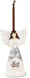 "Faith by Elements - 4.5"" Angel Praying Orn"