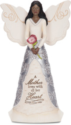 "EBN Mother by Elements - 8"" EBN Angel Holding Flower"