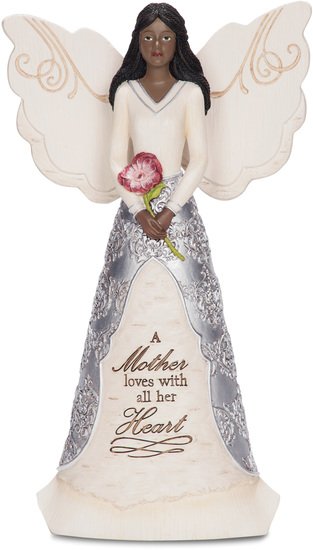 "EBN Mother by Elements - EBN Mother - 8"" EBN Angel Holding Flower"