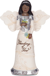 "Ebony Thinking of You by Elements - 5.5"" EBN Angel"