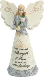 "Strength & Healing by Elements - 6.5"" Angel Holding Bird"