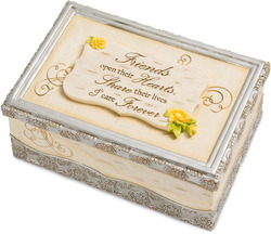 "Friendship by Elements - 6"" x 4"" x 2.5"" Music Box"
