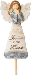 "Forever in our Hearts by Elements - 3"" Angel Floral Pick"