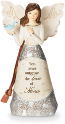 "Nana by Elements - 4.5"" Angel Holding Bird Ornament"