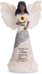 "My Sister by Elements - 6.5"" EBN Angel with Sunflower"