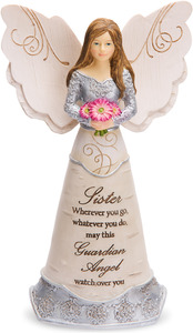 "Sister Guardian Angel by Elements - 6"" Guardian Angel"