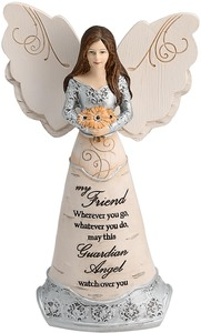"Friend Guardian Angel by Elements - 6"" Guardian Angel"