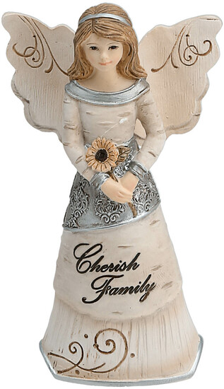 "Family by Elements - Family - 4.5"" Angel Ornament"